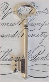 Zilverkleurige skeleton key sleutels. Per 3