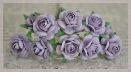 Marianne Design papieren roosjes licht lavendel. Per 10
