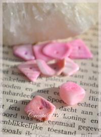 Schelpkralen chips roze. Per 10