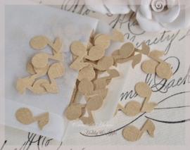 Pergamijn loonzakje gevuld met 100 muzieknoten in vele kleurtjes