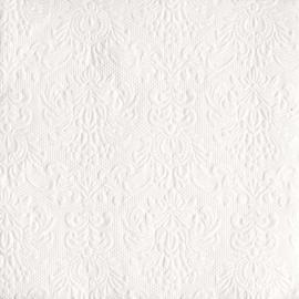 Servetten Barok Elegance white in 2 afm. Per 5