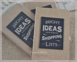 Kraft note book Bright ideas....
