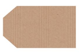Kraft stickers label blanco. Per 10