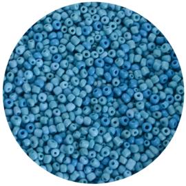 Zakje kralen rocailles blauw