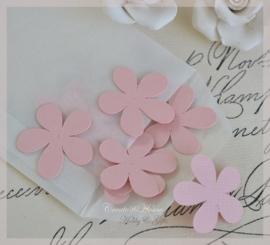 Pergamijn loonzakje met bloemetjes in vele kleurtjes