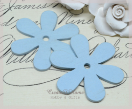 Houten bloemen lichtblauw