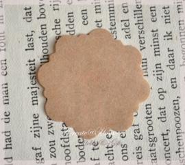 Gegomde kraft papier etiketten in 2 afm. & kleuren. Per 10