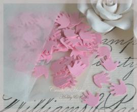 Pergamijn loonzakje gevuld met 100 handjes in vele kleurtjes