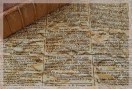 Oude kranten look. Per stuk