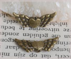 Metalen bronskleurige vleugels. Per 10