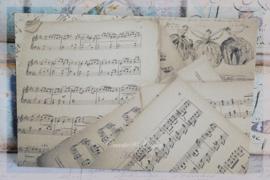 Vintage muzieknoten kaart