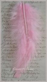Veertjes roze. Per 10