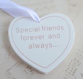 Houten hartje Special friends....