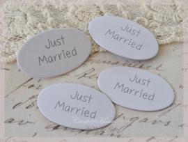 Dubbelzijdige tags Just Married. Per 10