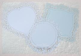 Lace paper  Eau de Nil in 3 vormen