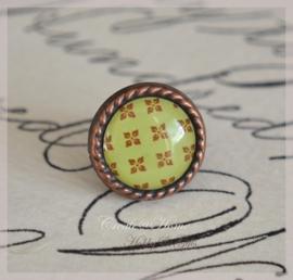 Brads splitpen koper bruin/groen 8 mm