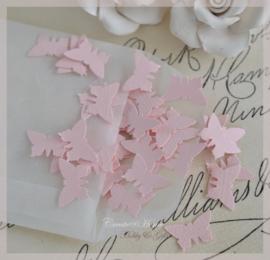 Pergamijn loonzakje met vlindertjes in vele kleurtjes