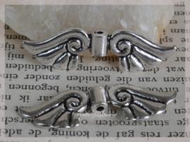 Metalen zilverkleurige vleugels. Per 5