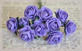 Mulberry roosjes paars. Per 10