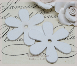 Houten bloemen wit