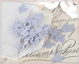 Pergamijn loonzakje gevuld met 100 duifjes in vele kleurtjes