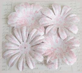 Papieren bloemen Wild Rose. Per setje