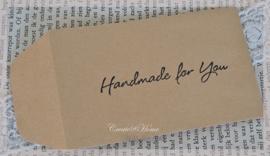 Kraft loonzakjes Handmade for you. Per 10