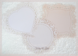Lace paper  Oyster Blush in 3 vormen