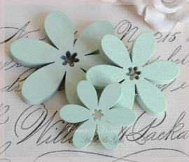 Houten bloemen mint