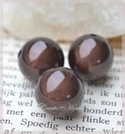 Miracle beads bruin. Per 10