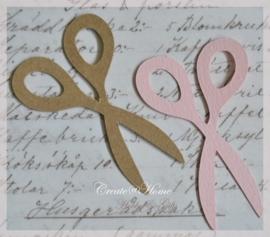 Schaartjes van linnenpapier in vele kleurtjes & 2 afm. Per 10