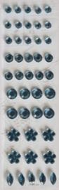 Plakdiamantjes oudblauw. Per 44