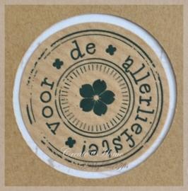 Kraft stickers rond Allerliefste. Per 10