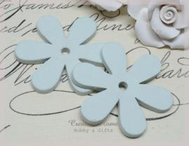 Houten bloemen licht mint