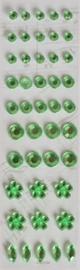 Plakdiamantjes groen. Per 44