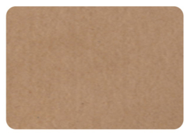 Kraft stickers rechthoek blanco. Per 10