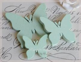 Houten vlinders mint