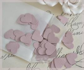 Pergamijn loonzakje met mini hartjes in vele kleurtjes