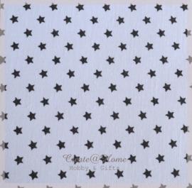 Stickervelletje van stof zwarte sterretjes