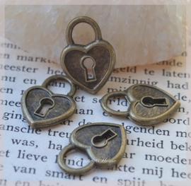 Bedelslotjes brons metaal. Per 10