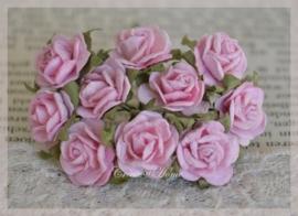 Mulberry roosjes roze. Per 10
