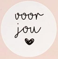 Ronde sticker voor jou ♥︎. Per 5