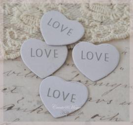 Dubbelzijdige tags Love. Per 10