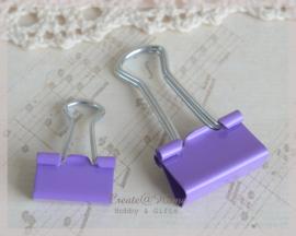 Bulldog clip - papierklem paars