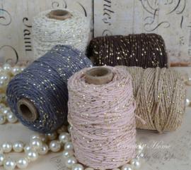 Cotton twist gouddraad in 6 kleuren. Per mtr.