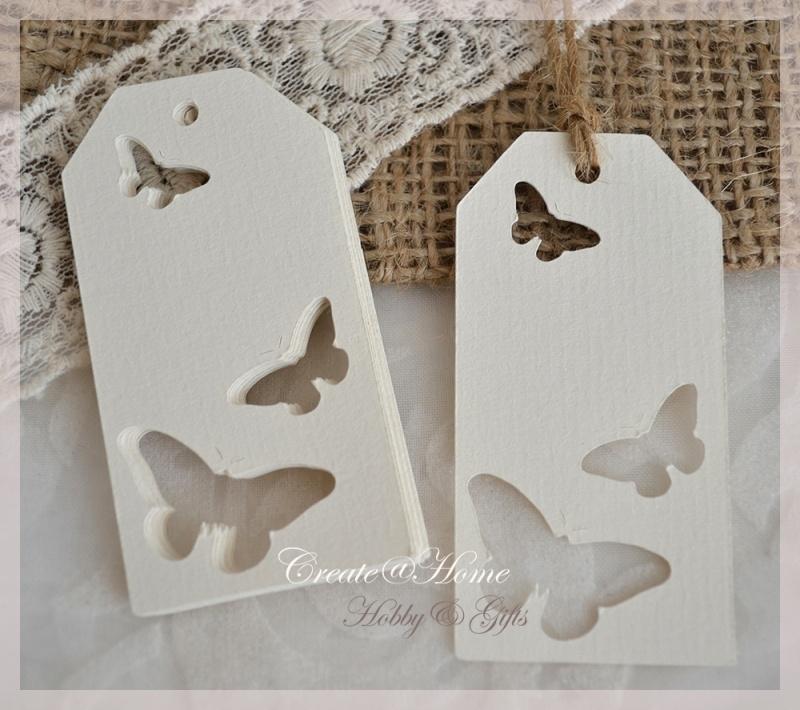 Label vlinders in 4 kleuren
