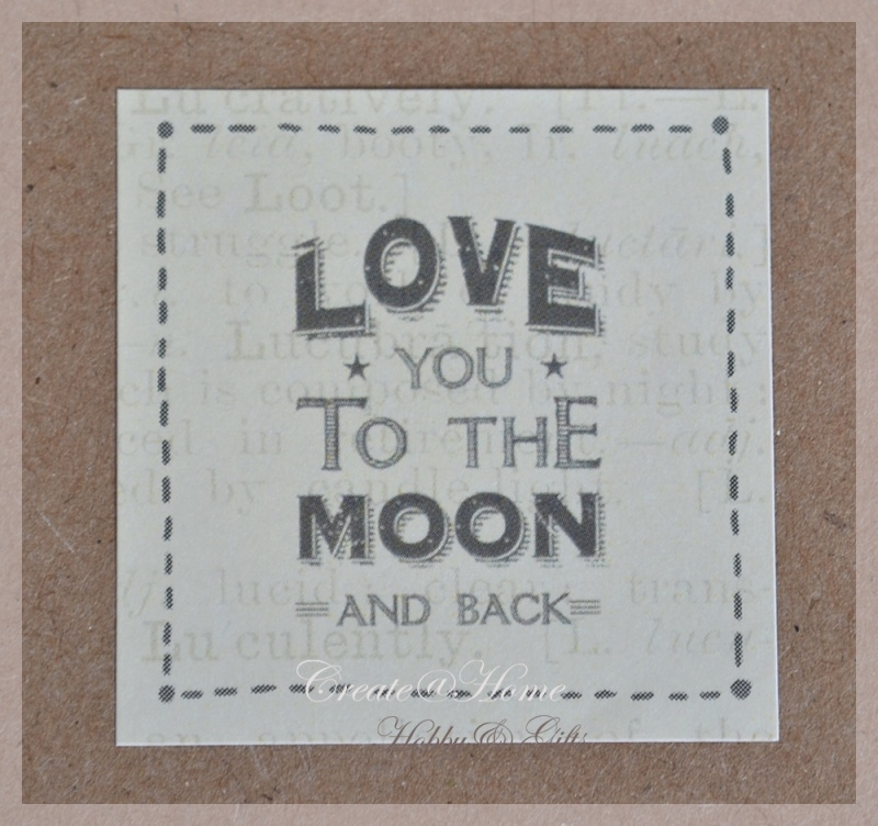 Vintage stickers Love you to the moon and back. Per 5