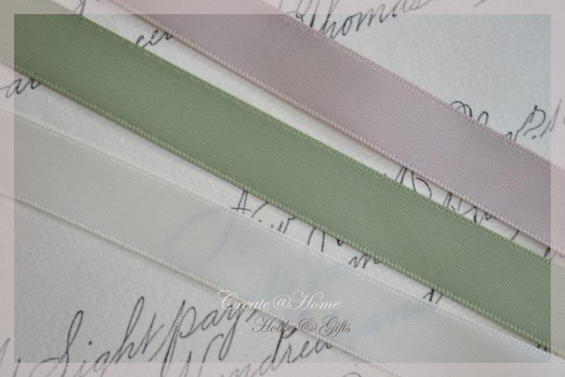 Satijnlint 16 mm in 5 kleuren. Per mtr.