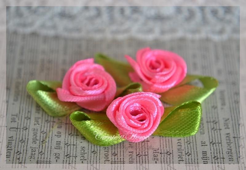 Satijnen roosjes snoeproze