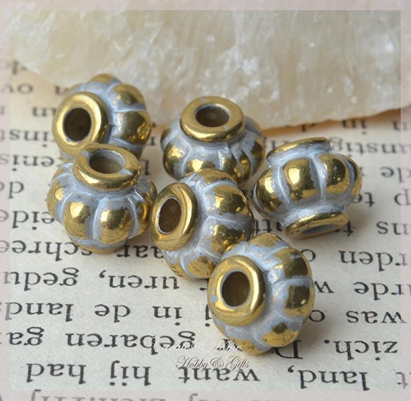 Metal look goud/zilver. Per 10